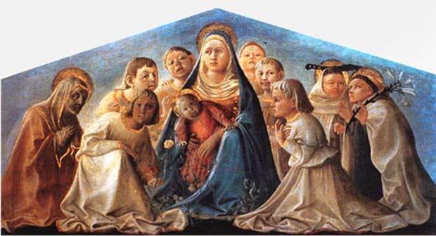 Filippo Lippi, Madonna delll'umiltà con gli angeli