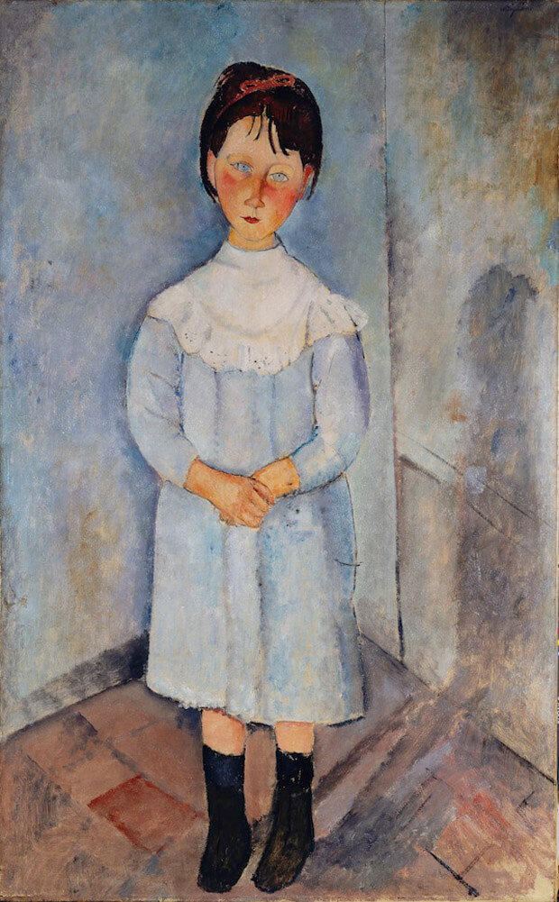 Amedeo Modigliani - Bambina in blu.1918. Olio su tela