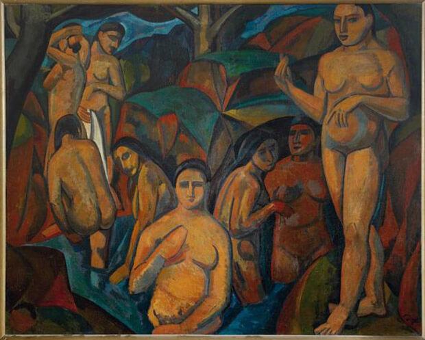 André Derain - Le grandi bagnanti. 1908. Olio su tela
