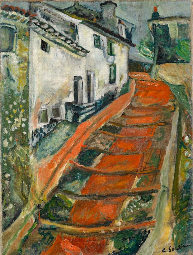 Chaïm Soutine - La scala rossa a Cagnes. 1918 circa. Olio su tela