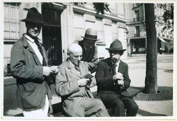 Jean Cocteau, Amedeo Modigliani, Max Jacob, Andrè Salmon, Manuel Ortiz de Za'rate