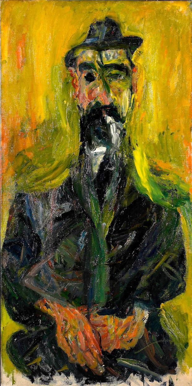 Chaïm Soutine - L'uomo col cappello. 1918. Olio su tela