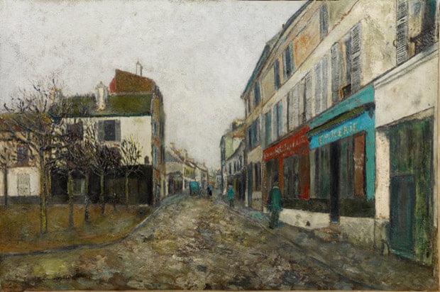 Maurice Utrillo - P Piazza della chiesa a Montmagny.1907 circa