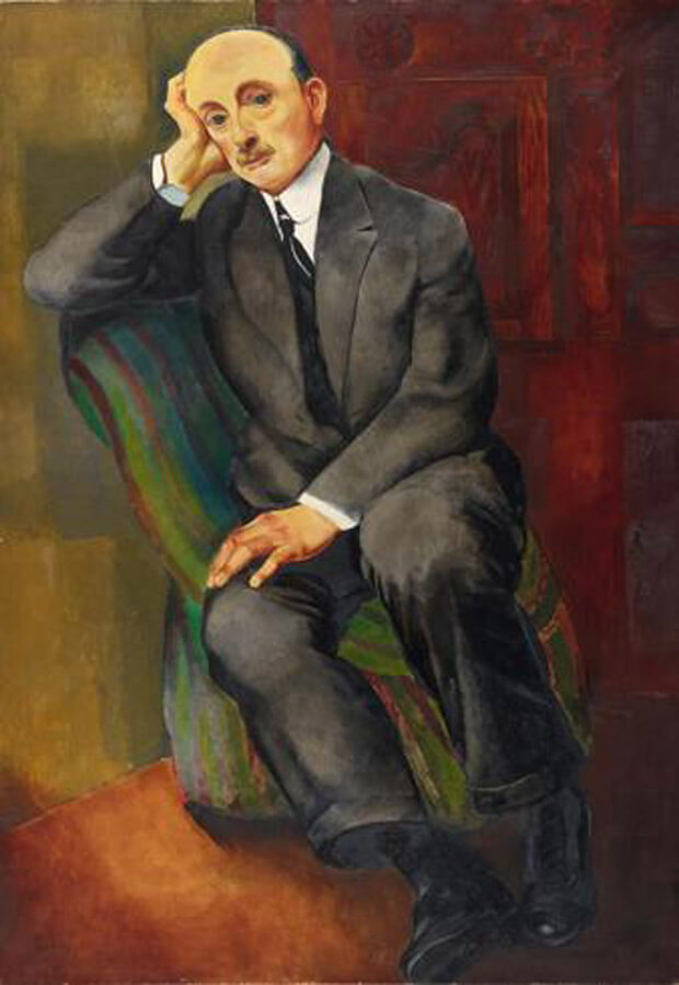 Moïse Kisling - Ritratto d'uomo (Jonas Netter). 1920. Olio su tela,