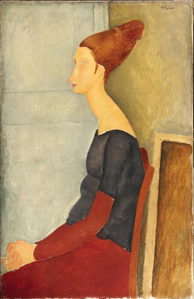 Modigliani - Ritratto di Ieanne Hébuterne. 1918. Olio su tela
