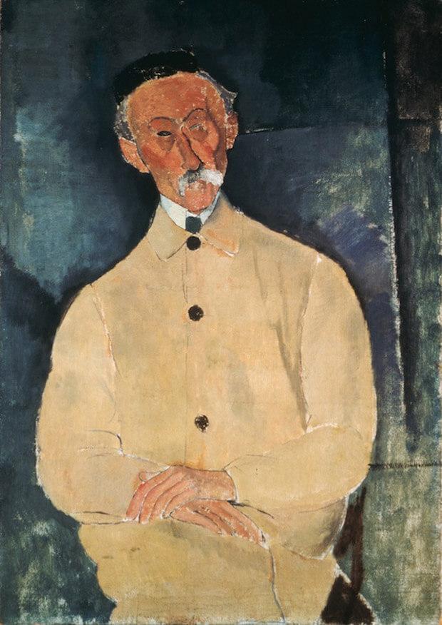 Modigliani - Ritratto di Lepoutre. 1916. Olio su tela