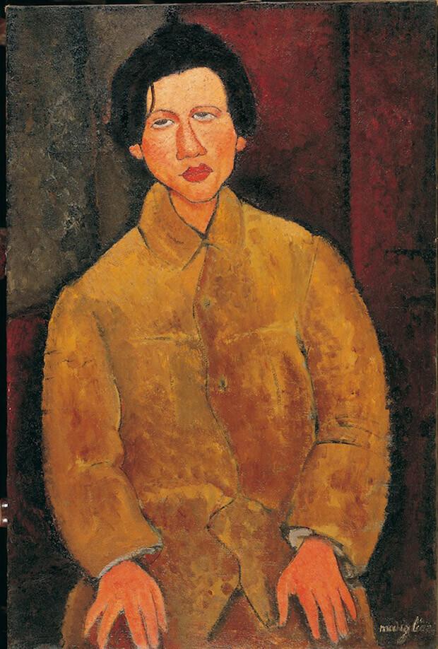 Modigliani - Ritratto di Soutine. 1916. Olio su tela