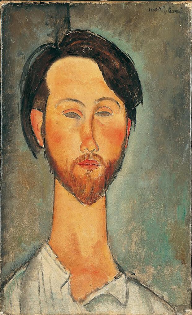 Modigliani - Ritratto di Zborowski. !916. Olio su tela