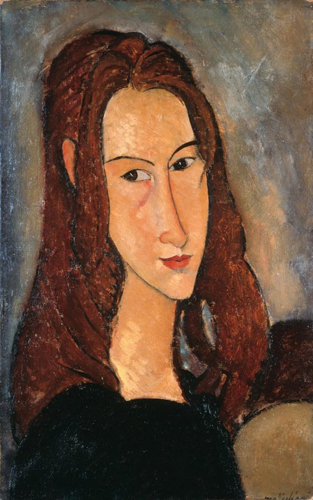 Modigliani - Ritratto di ragazza dai capelli rossi ( Ieanne Hébuterne). 1918. Olio su tela