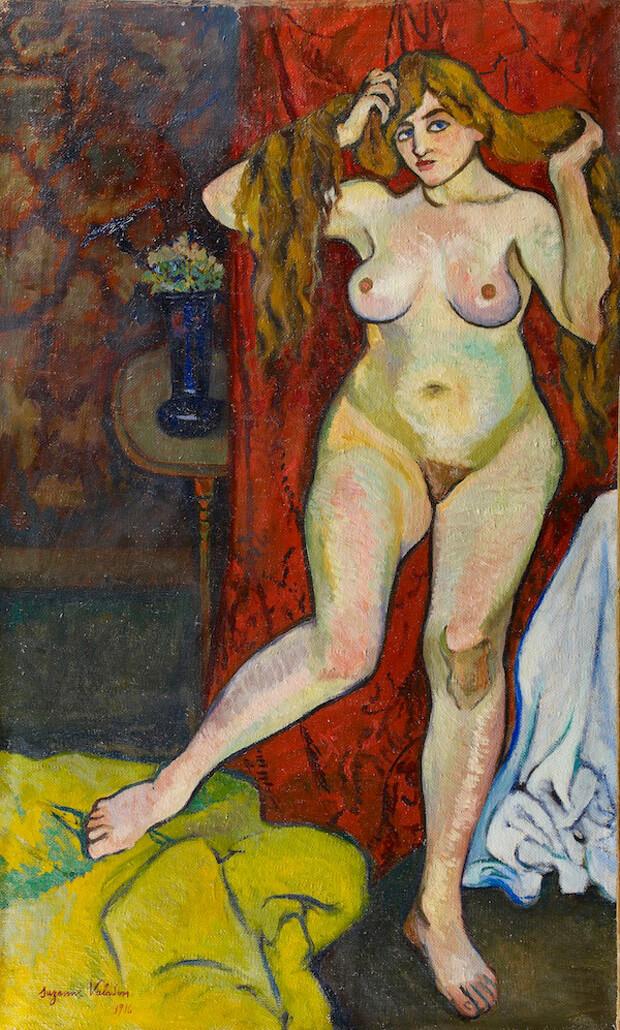 Suzanne Valadon - Nudo che si pettina.1916. Olio su cartone