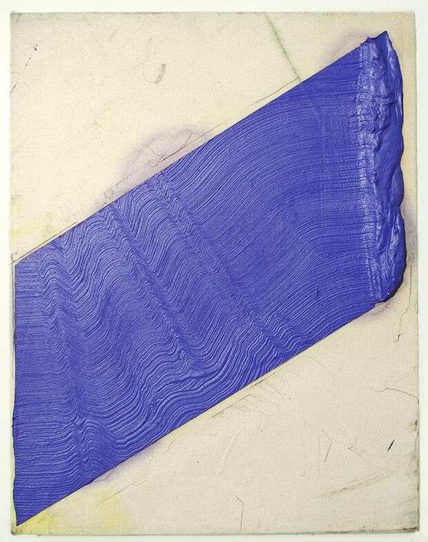 Andrew Brischler. Guerra Fredda, Olio e matita su tela grezza su pannello - 2013
