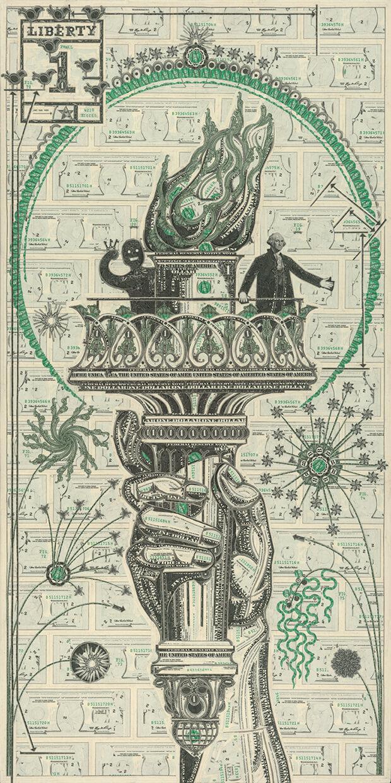 Mark Wagner - The art of the dollar - statua della libertà
