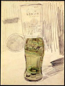 Zuppa Cambells sopra Oltre la bottiglia di Coca, 1962