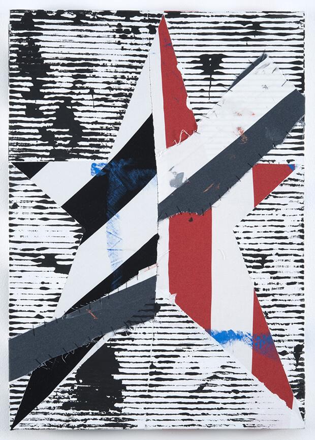 Benjamin Corni. Stella rotta, latex, acrilico e filo su cotone -  2013