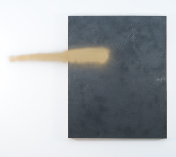 Brendan Lynch. Ingresso e fuga n.1 - Grafite e vernice spray su tavola - 2013