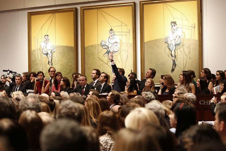 Francis Bacon trittico Freud