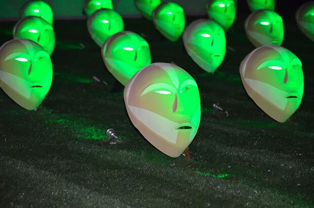Richi Ferrero. Bwindi Light Masks