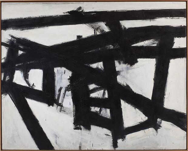 Franz Kline. Mahoning, 1956 - Olio e collage di carta su tela, 204,2x255,3 cm