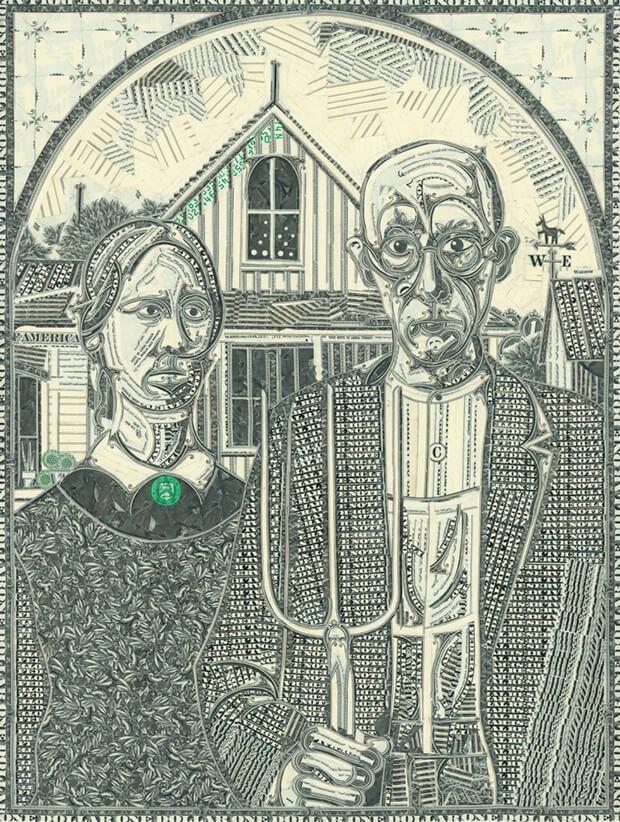 Mark Wagner - The art of the dollar - Rielaborazione