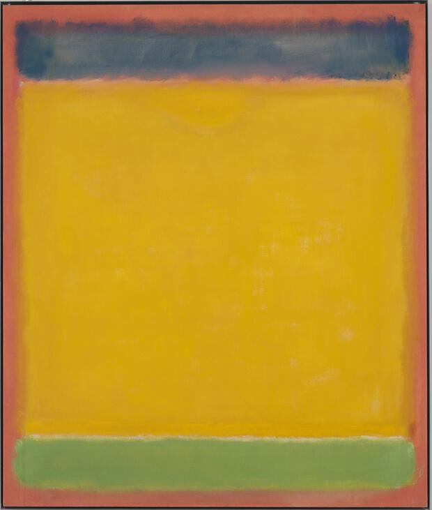 Mark Rothko- Senza titolo, (Blu, Giallo, Verde su Rosso), 1954
