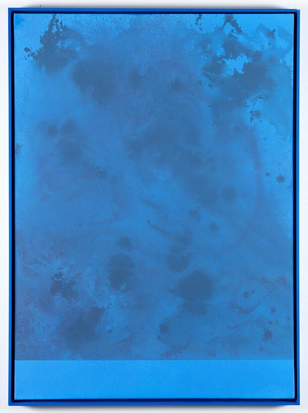 Sayre Gomez. Senza titolo, pittura acrilico su tela in cornice - 2013
