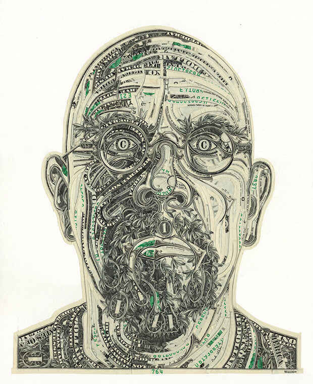Mark Wagner - The art of the dollar - Ritratto