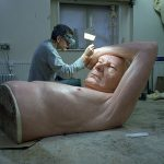 Ron Mueck in studio