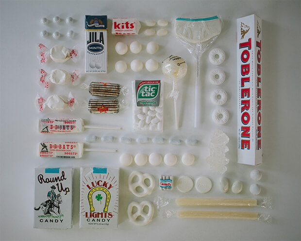 Color Coded Candy by Emily Blincoe - white, bianco