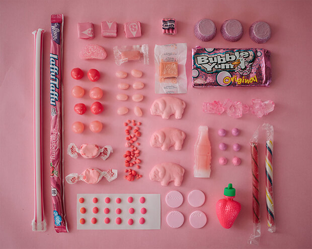 Color Coded Candy by Emily Blincoe - rosa