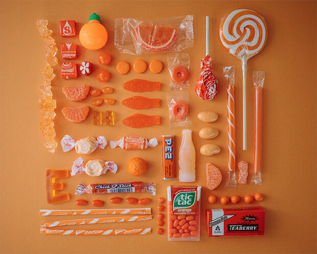 Color Coded Candy by Emily Blincoe - orange, arancione