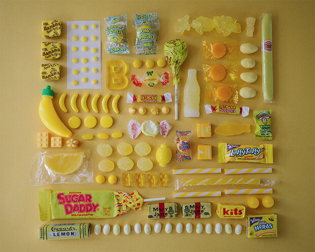Color Coded Candy by Emily Blincoe - yellow, giallo