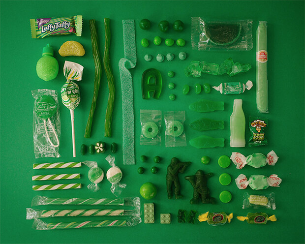 Color Coded Candy by Emily Blincoe - green, verde