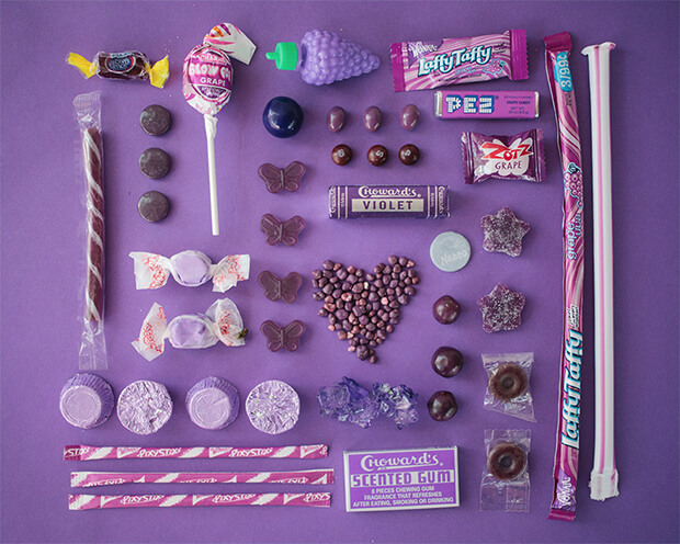 Color Coded Candy by Emily Blincoe - violet, viola