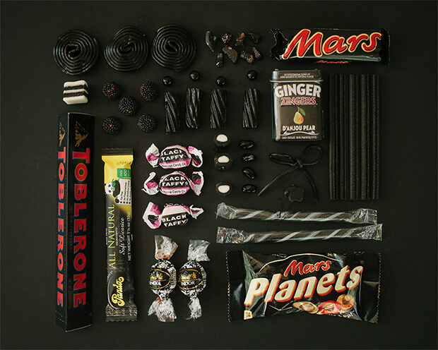 Color Coded Candy by Emily Blincoe - black, nero