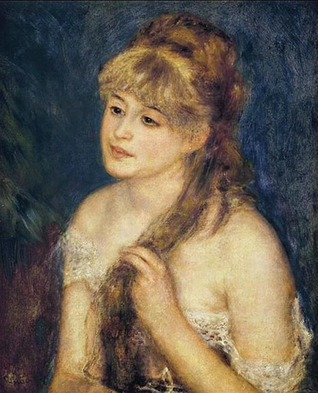 pierre_auguste_renoir_1_Pierre August Renoir. giovane donna che si pettina, 1876_