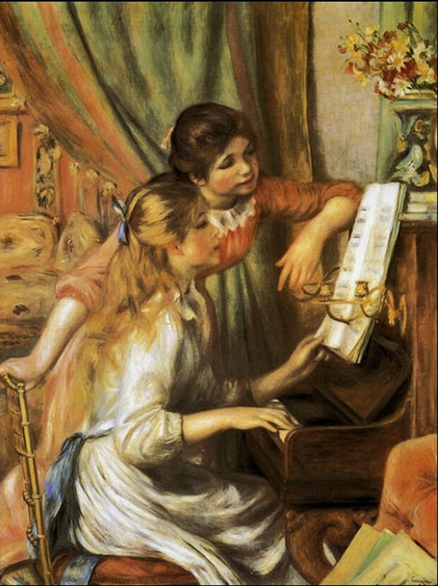 Pierre August Renoir. Ragazze al piano, 1892