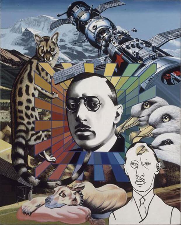 Errò. Ritratto di Stravinsky, 1974, Olio su tela, 162,5x131 cm.