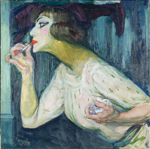 Frantisek Kupka. Rossetto, 1908, olio u tela, 63,5x63,5 cm.