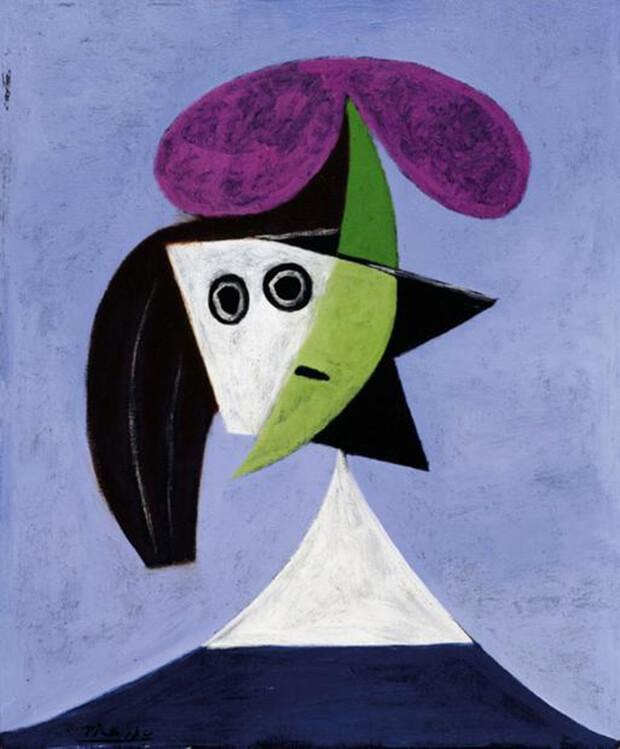 Pablo Picasso. Donna con cappello , olio su tela, 1934, 60 x 50 cm.