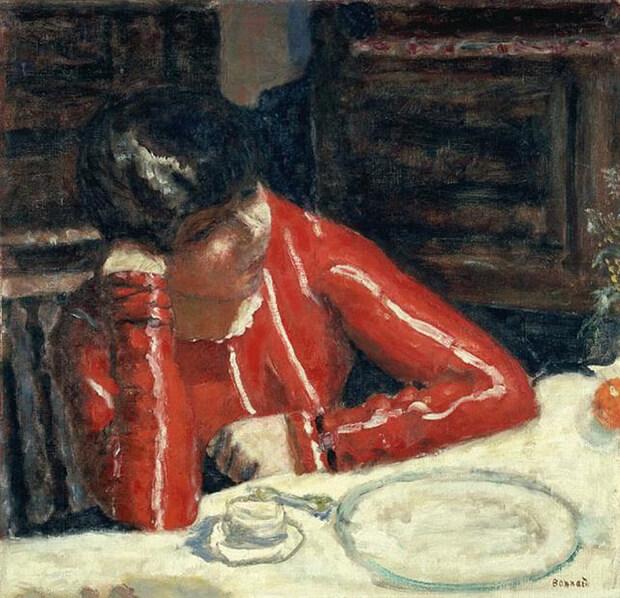 Pierre Bonnard. La camicetta rossa, 1925