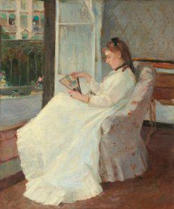 Berthe Morisot. La sorella dell'artista alla finestra, 1869, olio su tela