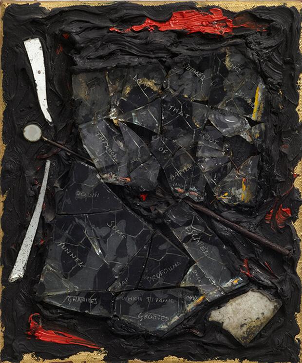 Derek Jarman. Dopo la vita, 1986, Olio e tecnica mista, 31,5x26 cm.
