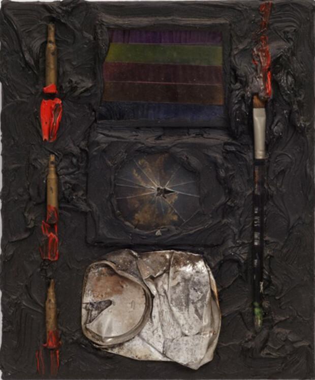 Derek Jarman. Pinxit, 1987, Olio e tecnica mista, 31x26 cm.