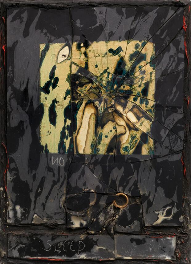 Derek Jarman. Sonno, 1987, Olio e tecnica mista,36x26,1 cm.