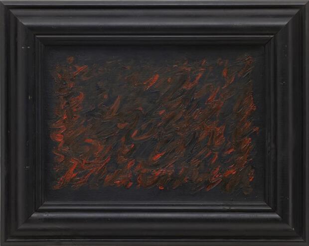 Derek Jarman. Vita notturna, 1982, Oilo su tela, 38,5x48,3 cm.