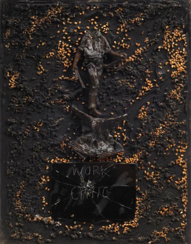 Derek Jarman. Loro lo hanno fatto, 1987, Olio e tecnica mista, 46x36 cm.