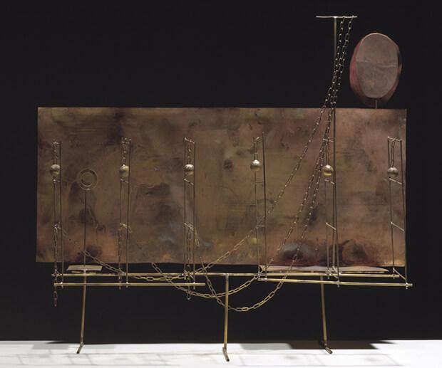 Fausto Melotti. Progetto per fontana, 1983, Ottone. 49 x 56 x 17 cm.