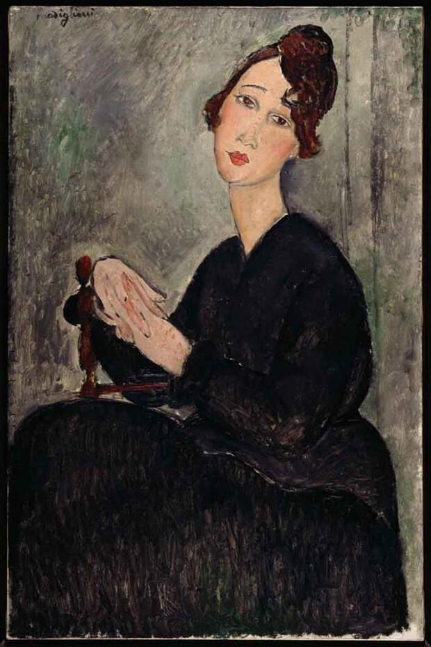 Amedeo Modigliani, Ritratto di Dédie, 1918, olio su tela, 92x60 cm.