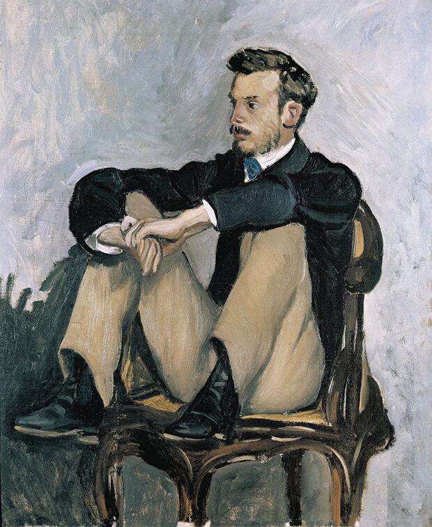 Frédéric Bazille. Ritratto di Renoir, 1867