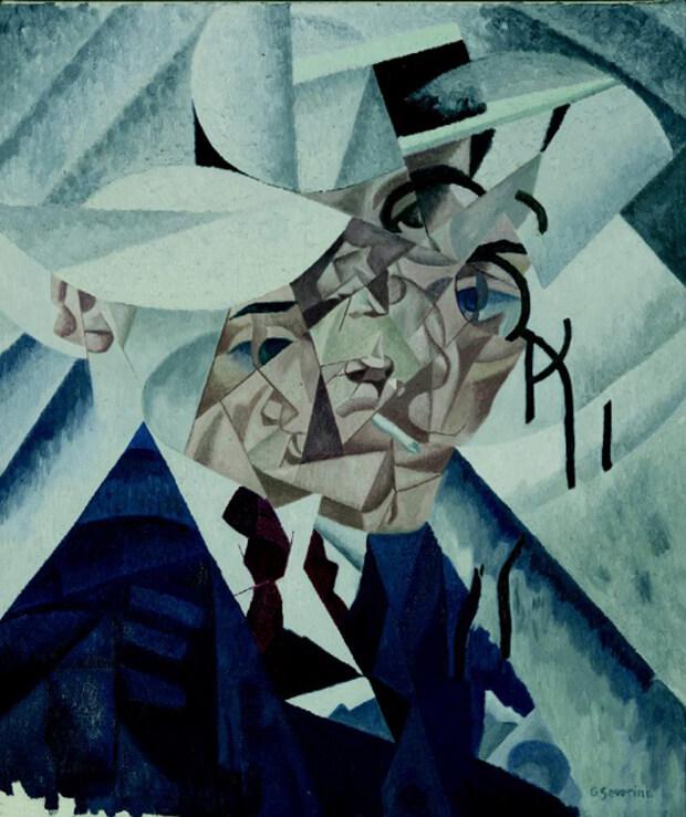 Gino Severini, Autoritratto, olio su tela, 55x46.3 cm.